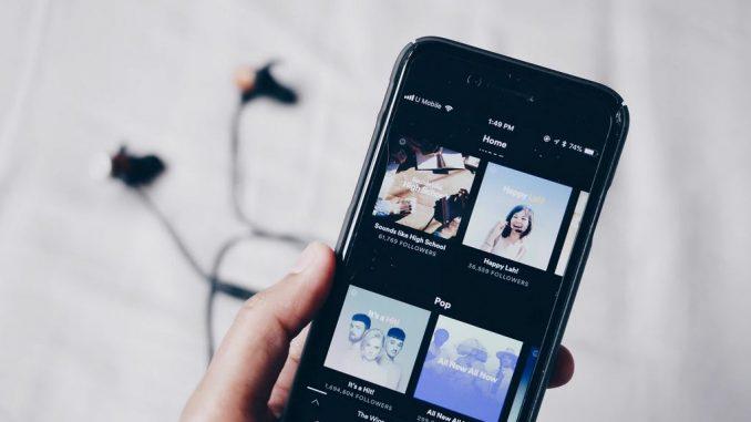 spotify : écoute de musique sur smartphone